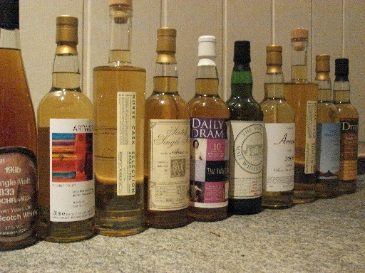 Range of Independent Bottlings