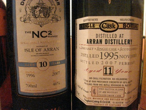Arran NC2-Range Duncan Taylor and Old Malt Cask from Douglas Laing