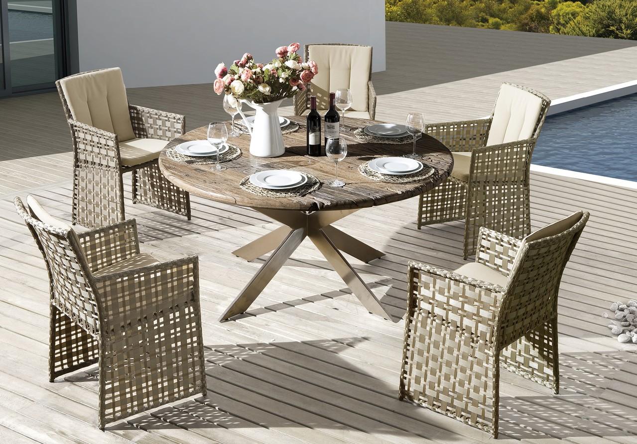 Wohndesign hochwertige gartenm bel rattan teakholz for Ambiente wohndesign
