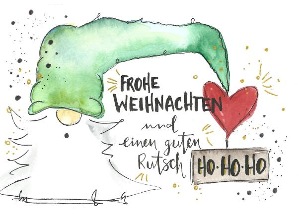 Der diesjährige Weihnachtsgruß stammt von KoJe ART - Kontakt: jesseca.koss@gmail.com