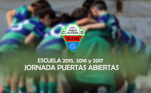 Escuela de Fútbol C.D. Pablo Iglesias Elche para niños de 4, 5 y 6 años. Temporada 2020-2021.