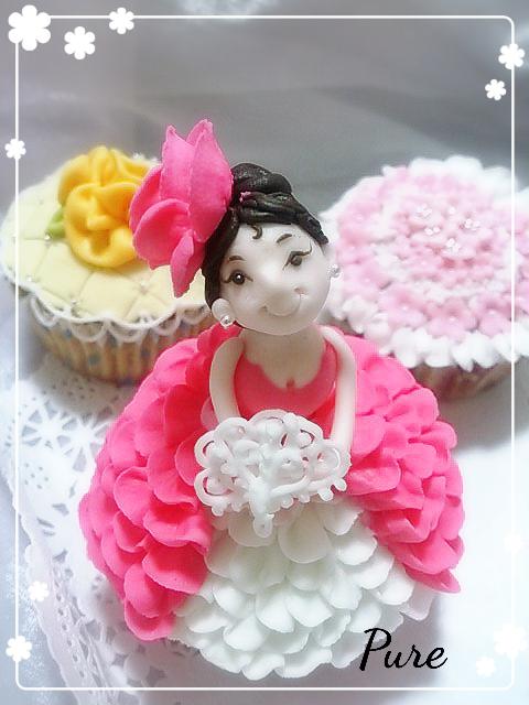 4 プリンセスカップケーキデコレーション