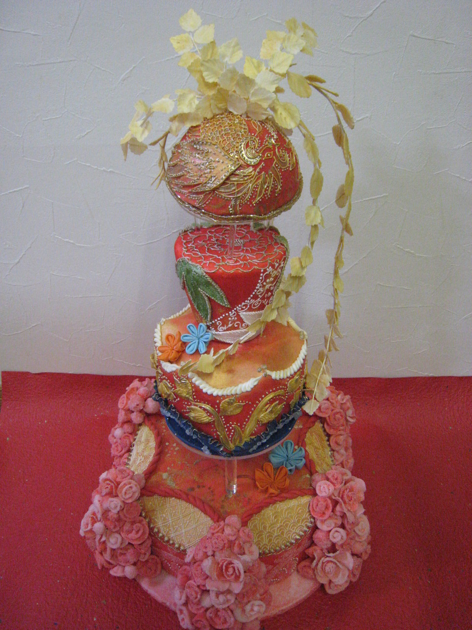 桂由美 ウェデングドレス&ケーキ コラボ出展作品
