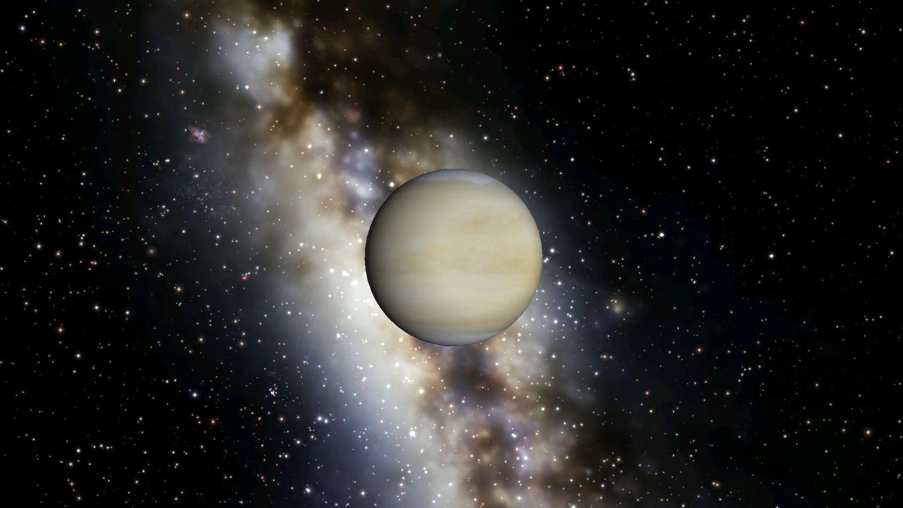 Das ist die Venus. Mit Wolken.