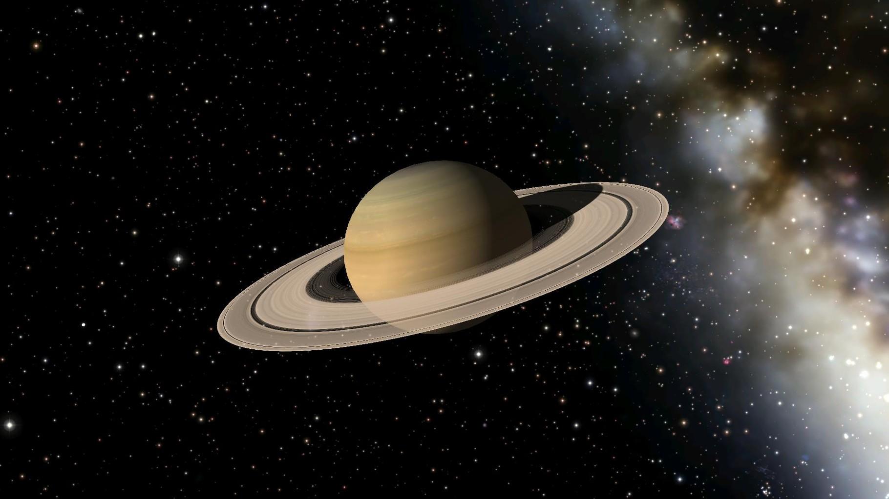 Der Saturn. Hier wollte Georgia mit mir einen Spaziergang auf dem Ring unternehmen.