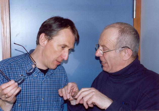 Links: Dr. Brimsstone (Reiner Böhm) - Rechts: Dr. Brocker (Fred Graeve) - Foto: HH