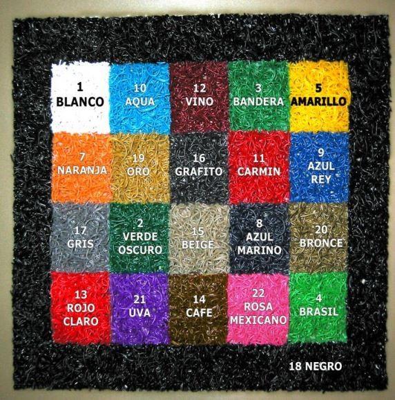 colores tapetes de entrada, colores tapetes de spaguetti