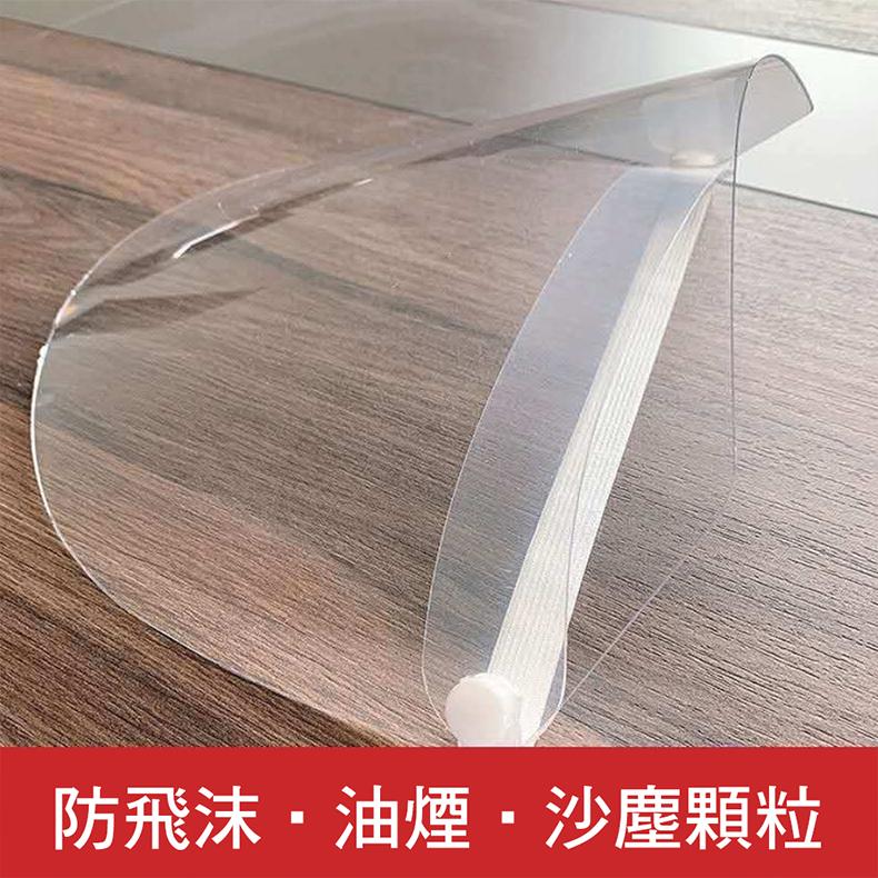 【CS22】全臉防飛沫透明防護面罩-3入組(防疫必備)