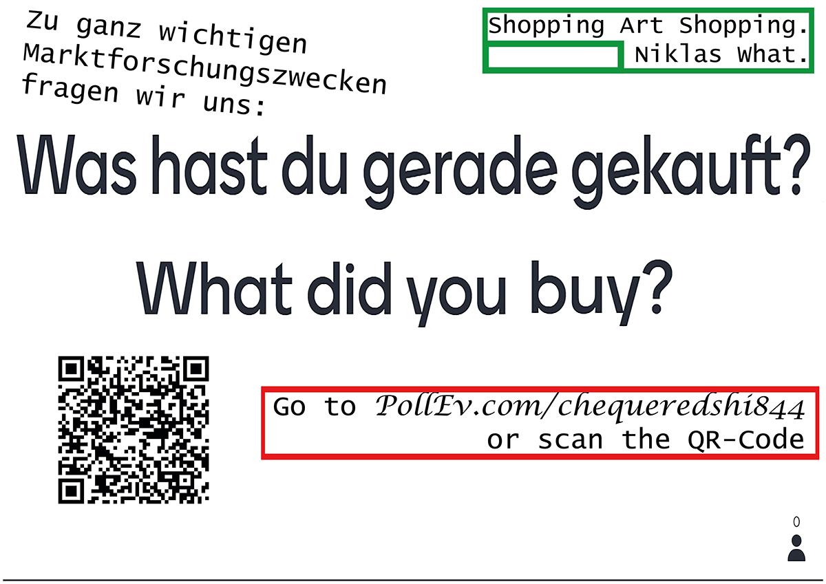 """Survey Art: Buy"", 2020."