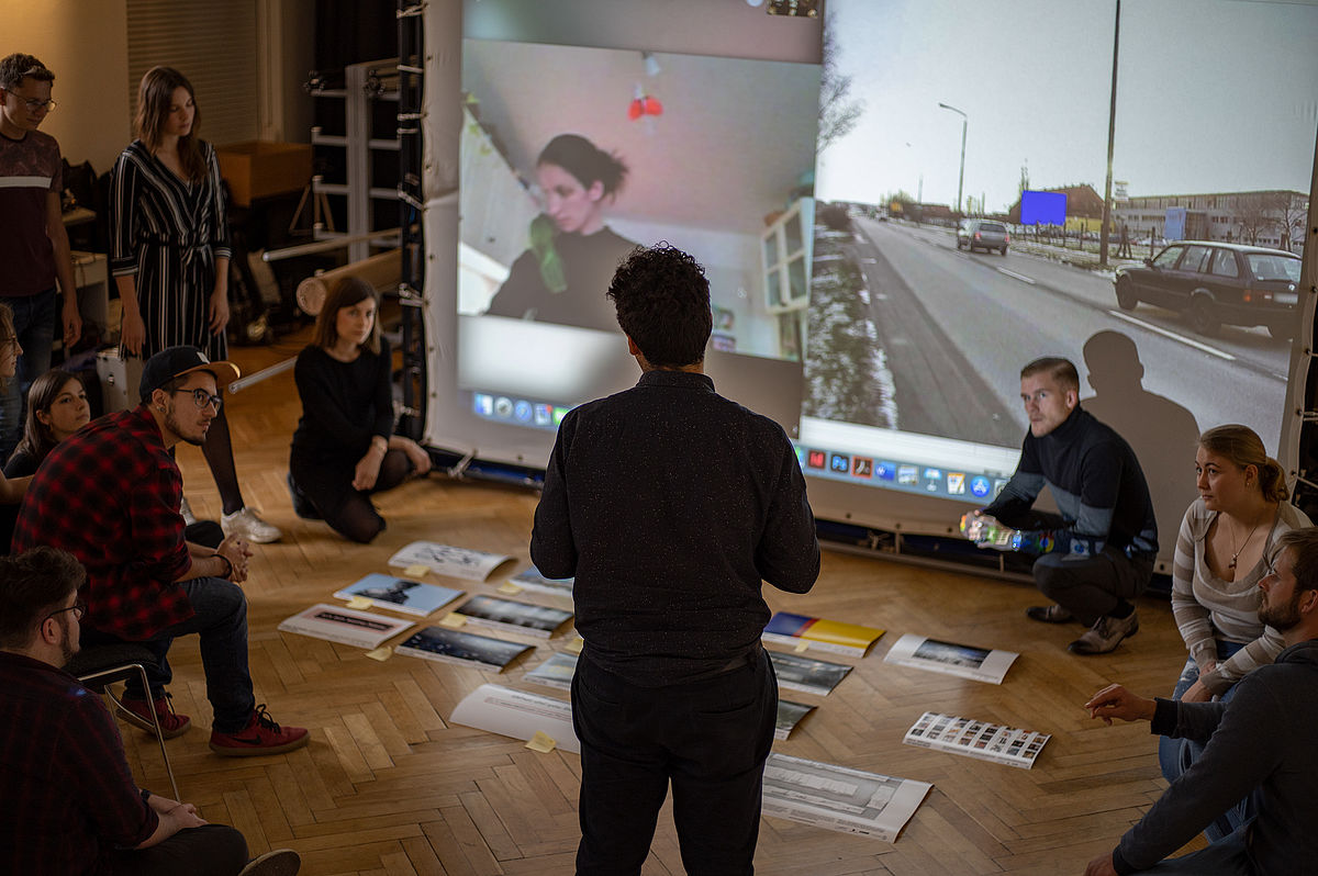 Finalization of the students' projects. Photo Credit: Juergen Auerswald.