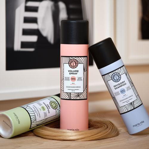 Volume Spray, Dry Shampoo und Invisidry Shampoo von Maria Nila