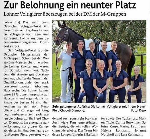 Deutscher Voltigierpokal 2013 - OV 01.11.2013