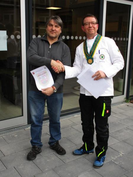 Edwin Henkel wurde für 30 Jahre Mitgliedschaft geehrt