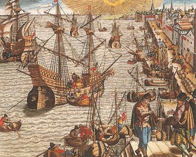 (Puerto de Sevilla en el siglo XVI)