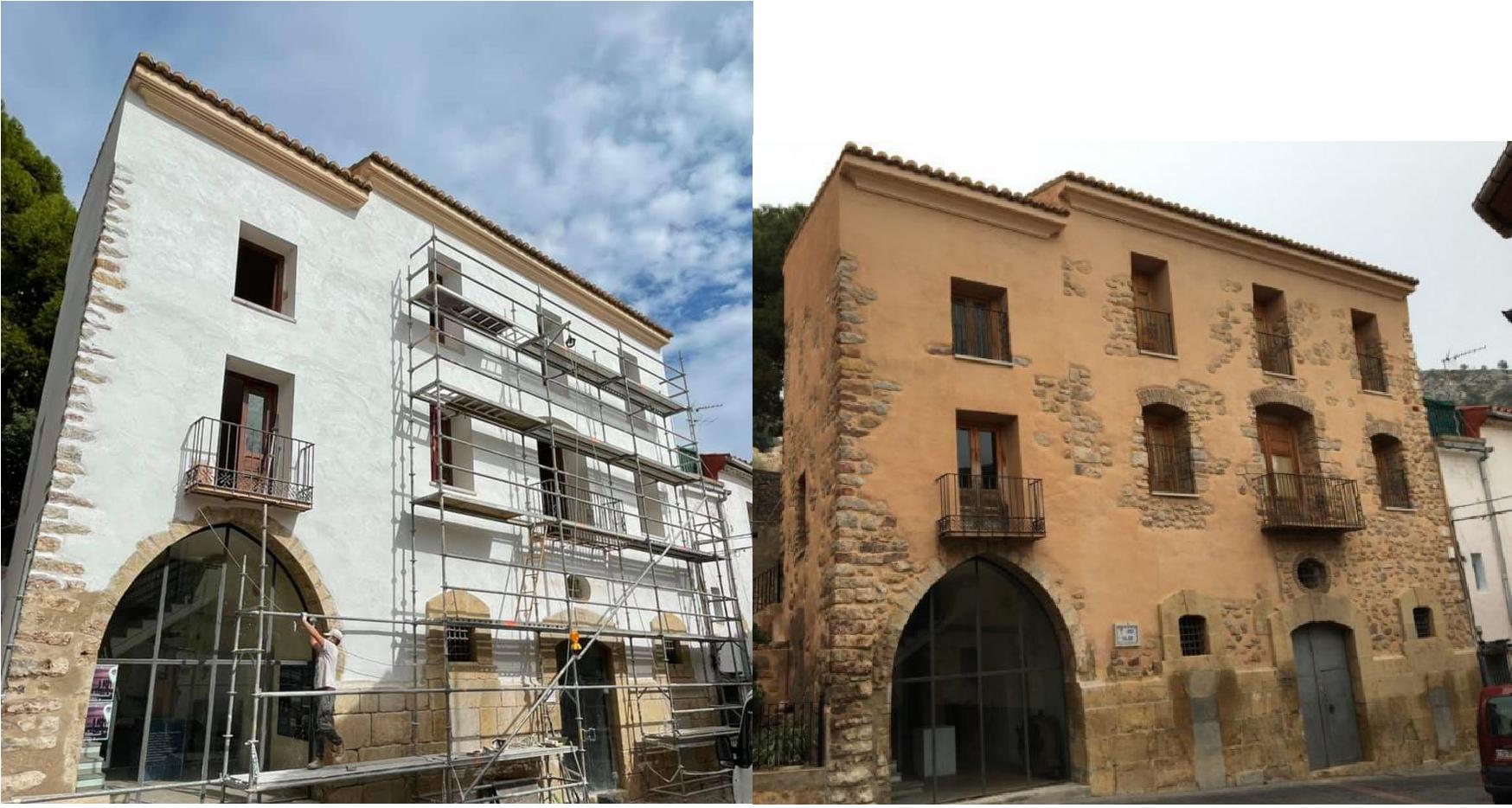 Actuació per eliminar les humitats de la Llotja Medieval-Casa de la Vila