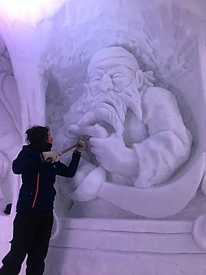Pirate - Sculpture sur neige - Village Igloo Avoriaz - Manon Cherpe