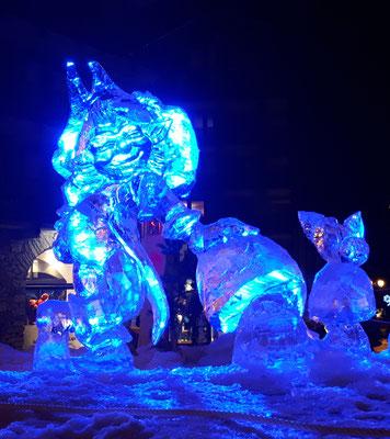 Lutin - Sculpture sur glace - Val d'Isère - Manon Cherpe