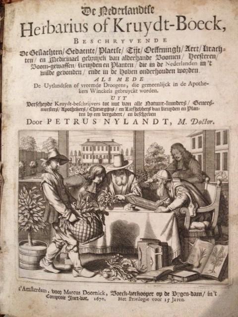 Kruidboek  1670   collectie Herbarium Frisicum