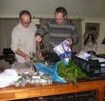 Meijer en Dolstra bij de Herbariumpers