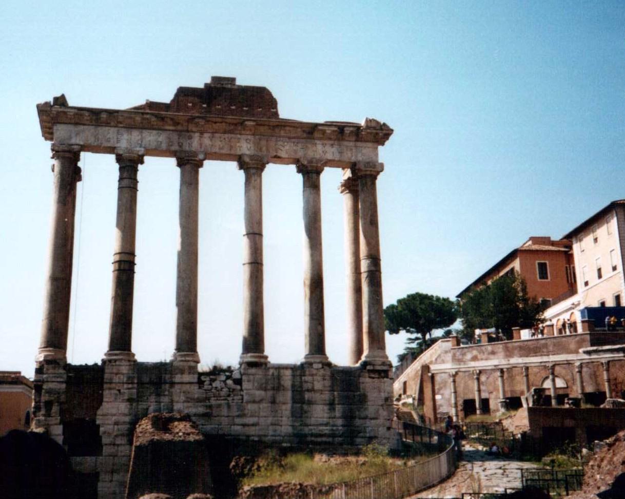 Saturntempel, Forum Romanun