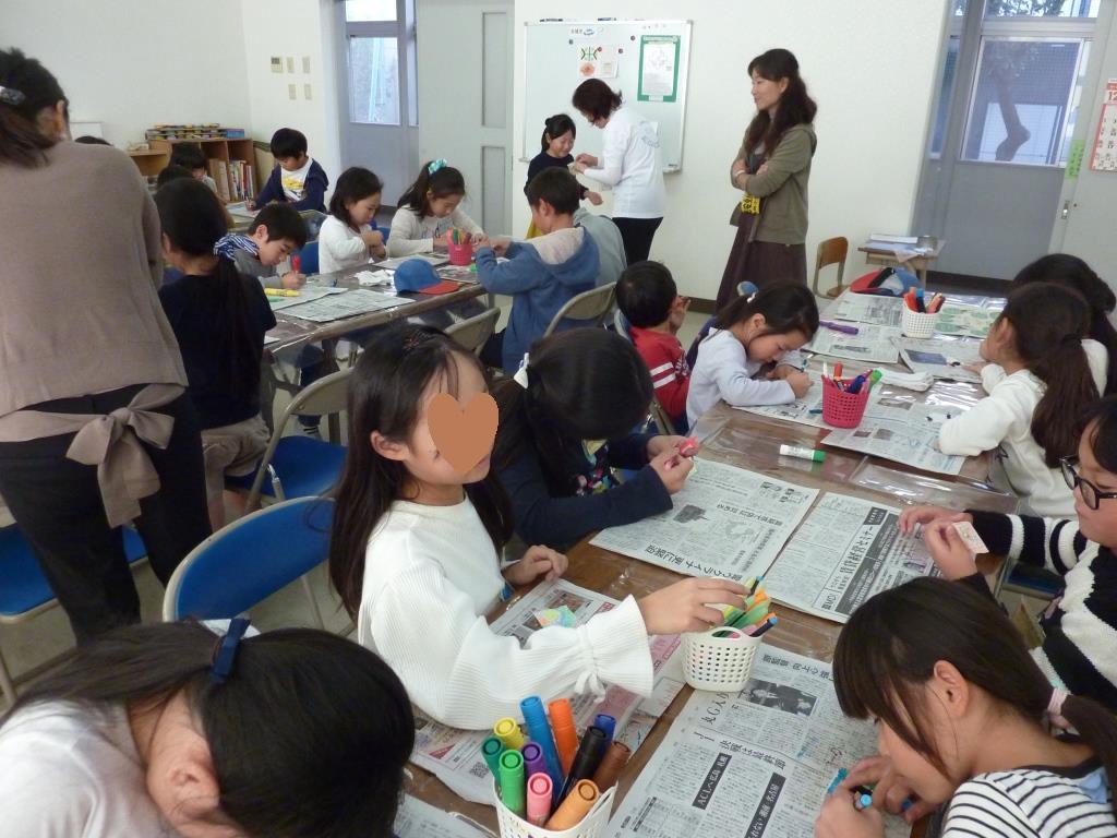 南篠崎小すくすくスクール工作教室①