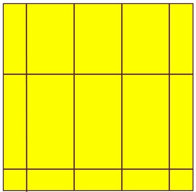 Tracés des lignes horizontales, un peu plus écartées que les lignes verticales pour obtenir des losanges étirés en longueur