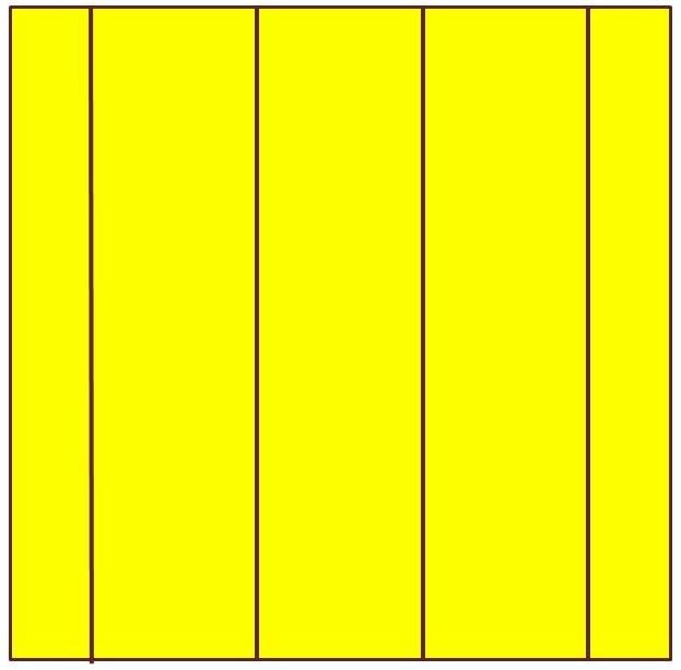 Tracé des lignes verticales avec la seconde couleur choisie pour le motif