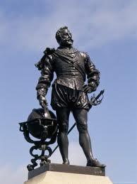 Francis Drake sur le Hoe à Plymouth
