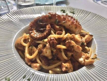 Pasta mit Octopus