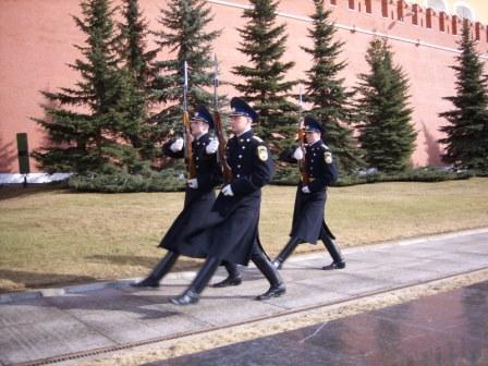 La relève de la garde au Kremlin de Moscou