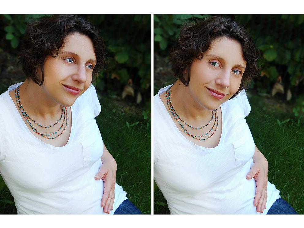 Model: meine Schwägerin Ramona mit Babybauch