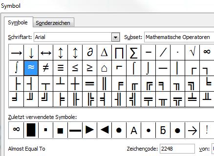 Excel Tipp: Das Rundungszeichen