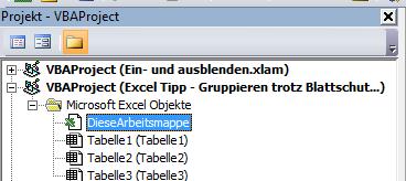 Excel Tipp: Gruppieren trotz Blattschutz