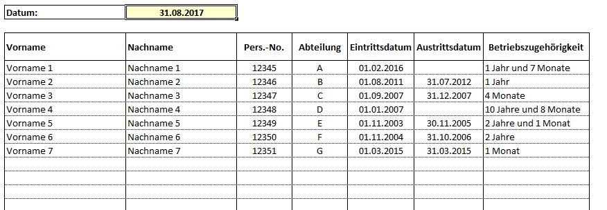 Betriebszugehörigkeit - 10,00 Euro