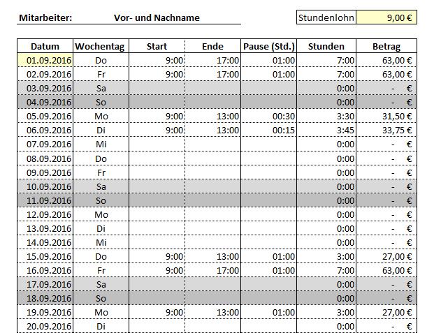 Arbeitszeiterfassung - 9,90 Euro
