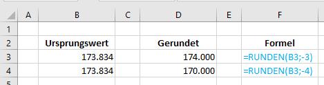 Excel Tipp: Runden auf 1000 mit Formatierung