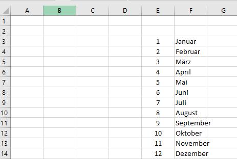 Excel Tipp: Monat aus Datum
