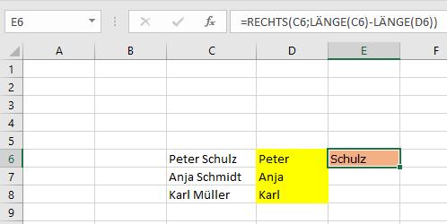 Excel Tipp 8: Vor- und Nachnamen trennen