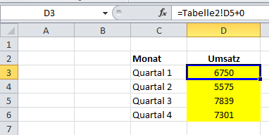 Excel: Formel statt Wert wird angezeigt
