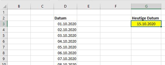 Excel rot wenn Datum überschritten