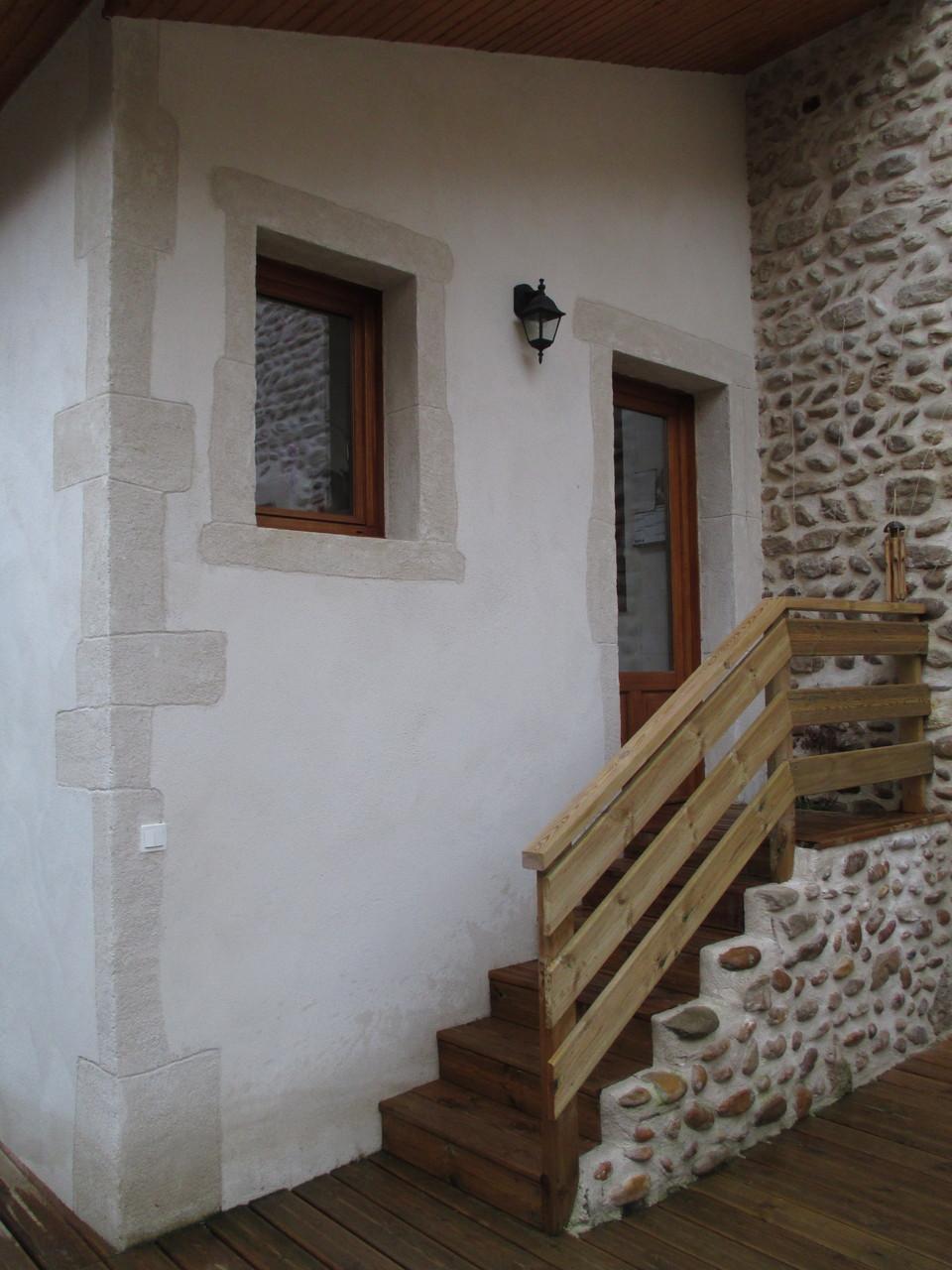 Crépi rustique de la façade