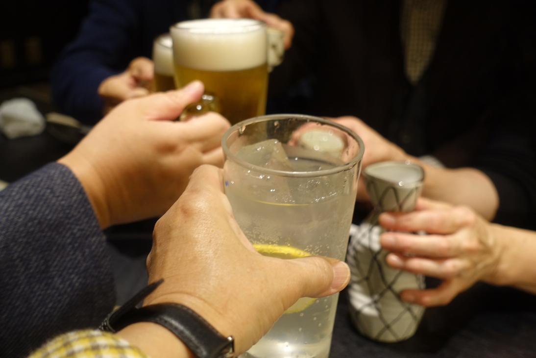 終了後は乾杯です。
