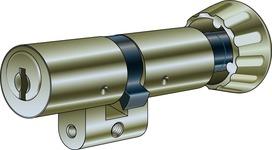 einfacher Kaba8-Zylinder mit bequemen Drehknopf innen