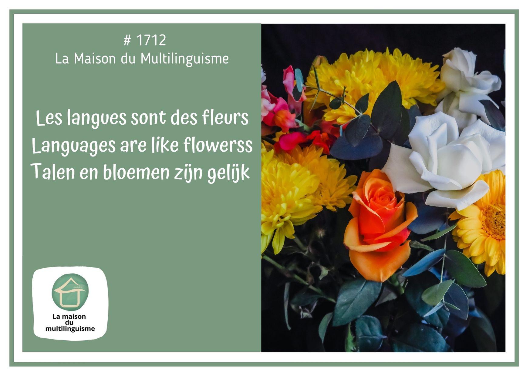 Les langues sont des fleurs / Languages are like flowers / Talen en bloemen zijn gelijk