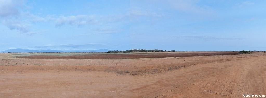 der ausgetrocknete Aruba Damm