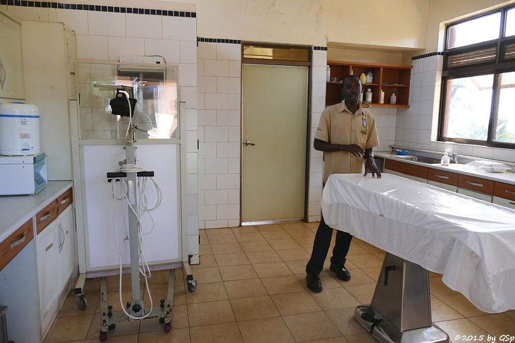 Schimpansen-Behandlungsraum