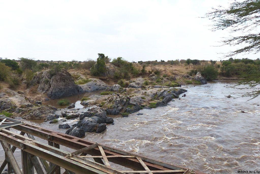 Blick von der Mara-Brücke auf den Mara-River
