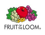 bedrucke Textilien Fruit of the Loom