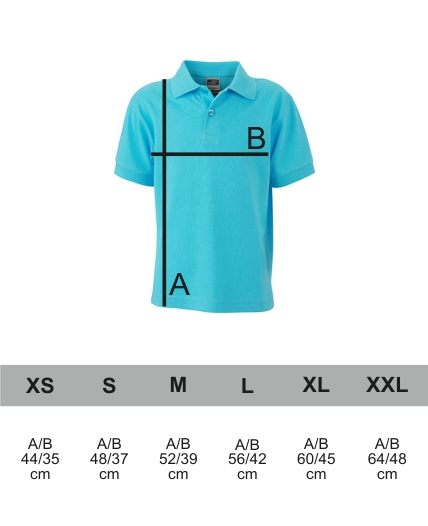 Grössentabelle Classic Polo Junior James+Nicholson