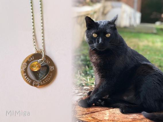 joya-artistica-collar-recuerdo-plata-ley-aro-acero-grabado-nombre-huella-raspa-gato-corazon cristal-pelo-animal-gaitano-ratix-ratilla